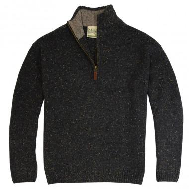 Aran Woollen Mills High Collar Zipped Sweater