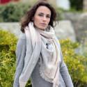 Etole Carrée Rose Clair Grands Carreaux Out Of Ireland