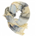 Out Of Ireland Light Blue Striped Stole