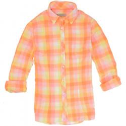 Out Of Ireland Orange Checkered Jane Shirt