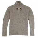 Best Yarn 1/2 Zip Collar Flecked Grey Sweater
