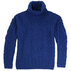 Aran Woollen Mills Blue Turtleneck Sweater