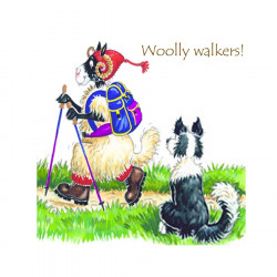 Dessous de Verre Woolly Walkers