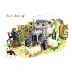 Sheep Driving Placemat