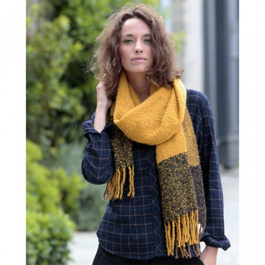 Out Of Ireland Yellow Black and Beige Scarf