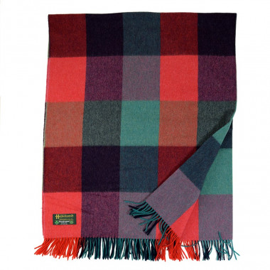 Plaid Carreaux Vert Laine Lambswool Irlandais John Hanly